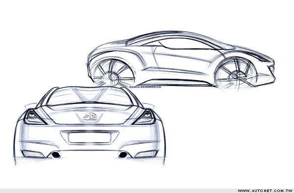 环保汽车手绘图片